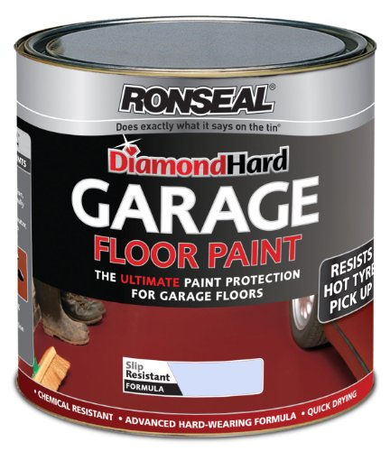 Ronseal 2.5l Diamond Hard Garage Floor Paint - Steel Blue