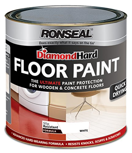 Ronseal Diamond Hard Perfect Finish Floor Paint White 750ml