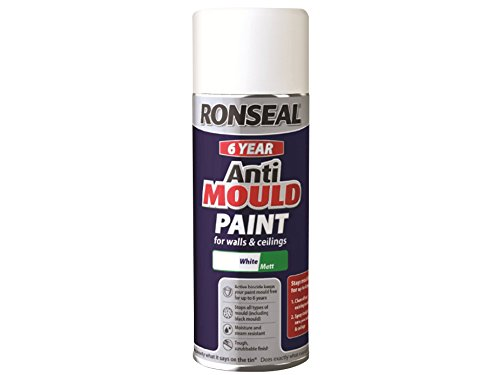Ronseal 400 Ml 6 Year Anti-mould Aerosol Matt Finish Paint - White