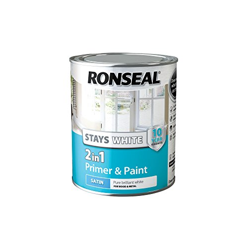 Ronseal Stays White 2in1 White Satin Paint 750ml