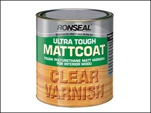 Ronseal Utvm25l Ultra Tough Internal Clear Mattcoat Varnish 2.5 Litre