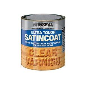 Ronseal Utvsc25l 2.5l Ultra Tough Internal Clear Satincoat Varnish