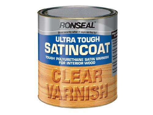 Ronseal Utvsc750 750ml Ultra Tough Internal Clear Satincoat Varnish