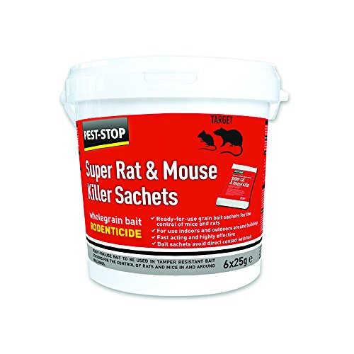 Pest-Stop Super Rat & Mouse Killer Sachets (Tub of 6)