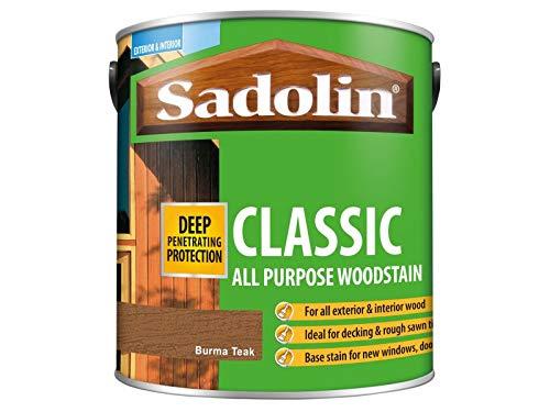 Sadolin Classic Wood Protection Burma Teak 2.5 Litre