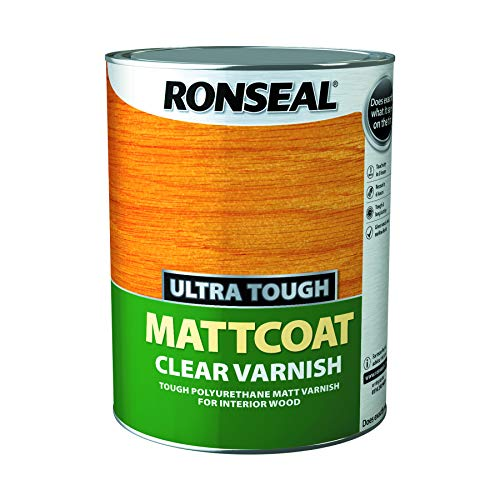 Ronseal Ultra Tough Interior Varnish - Clear Matt 5litre