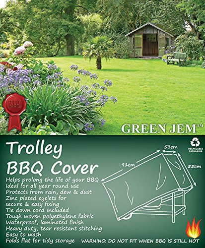 Green Jem Trolley Bbq Cover