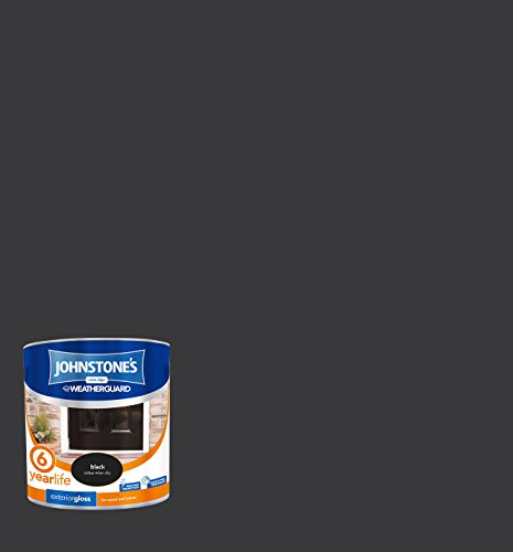 Johnstone's 303940 2.5 Litre Exterior Gloss Paint - Black