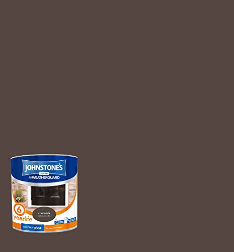 Johnstone's 303942 2.5 Litre Exterior Gloss Paint - Chocolate