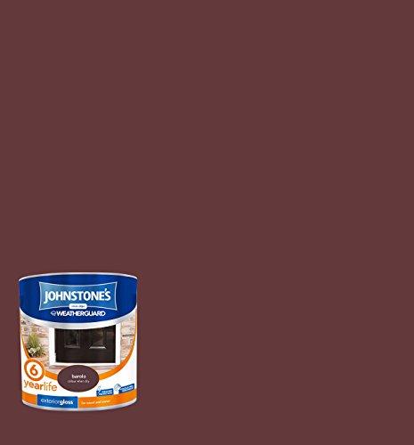 Johnstone's 303944 2.5 Litre Exterior Gloss Paint - Barolo