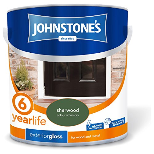 Johnstone's 303946 2.5 Litre Exterior Gloss Paint - Sherwood