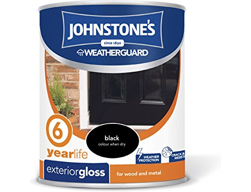 Johnstone's 309142 750ml Exterior Gloss Paint - Black