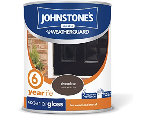 Johnstone's 309143 750ml Exterior Gloss Paint - Chocolate
