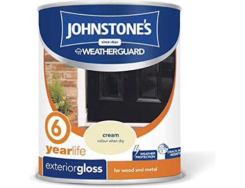 Johnstone's 309144 750ml Exterior Gloss Paint - Cream