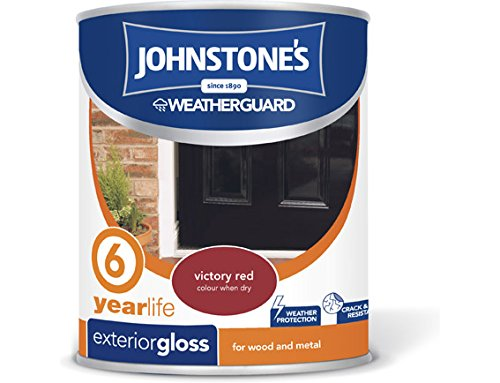 Johnstone's 309146 750ml Exterior Gloss Paint - Victory Red