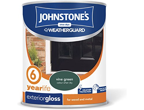 Johnstone's 309147 750ml Exterior Gloss Paint - Vine Green