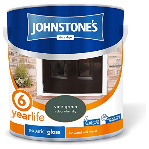 Johnstone's 309156 2.5 Litre Exterior Gloss Paint - Vine Green