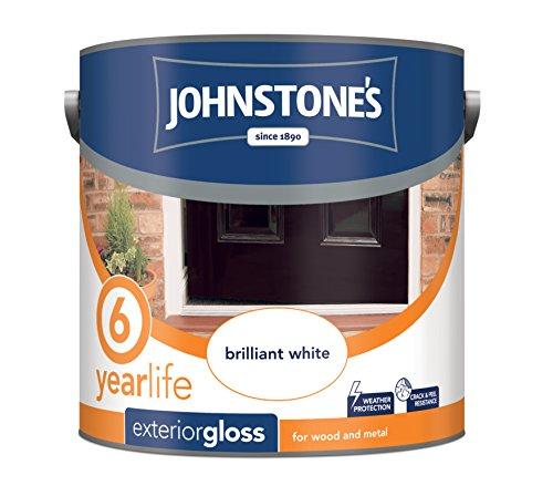 Johnstone's 309139 750ml Exterior Gloss Paint - Brilliant White