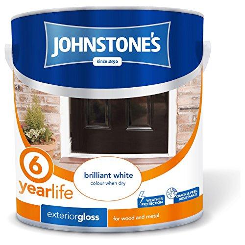 Johnstone's 309148 2.5 Litre Exterior Gloss Paint - Brilliant White