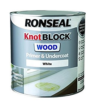 Ronseal Knot Block Primer And Undercoat, White, 2.5 Litre