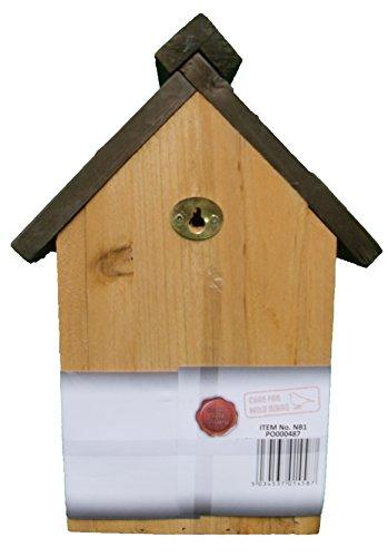 Green Jem Traditional Wooden Nesting Box, Brown, 18.5x16.5x26 Cm