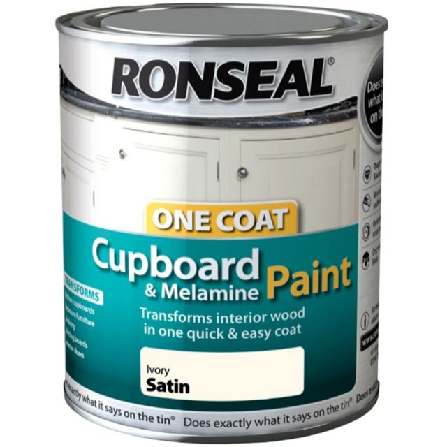 Ronseal One Coat Melamine & MDF Paint - Ivory