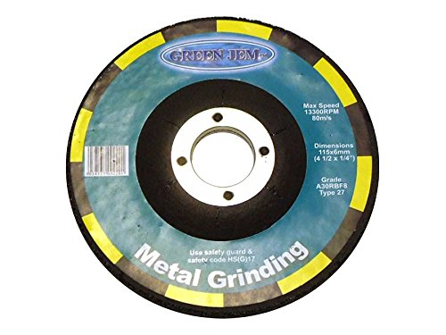 Green Jem Pack Of 5 Metal Grinding Discs