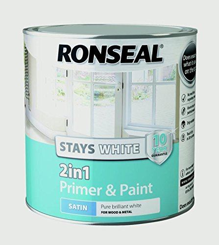 RONSEAL Stays White 2 in 1 Interior Wood Paint White Satin - 2.5L