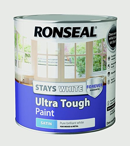 RONSEAL Stays White Ultra Tough Interior Wood Paint White Satin - 2.5L