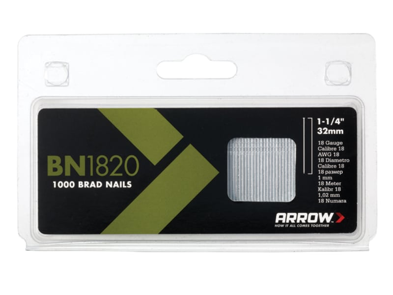 Arrow Brad Nails 32mm 18g Pack 1000