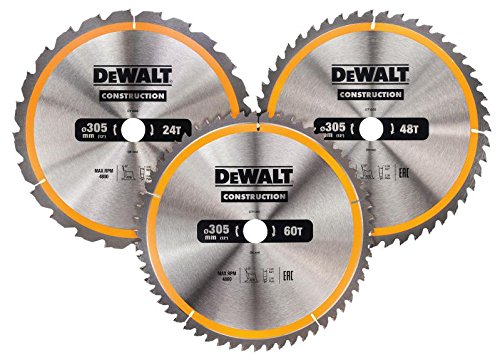Dewalt Construction Circular Saw Blade 3 Pack 305 X 30mm X 24t/48t/60t