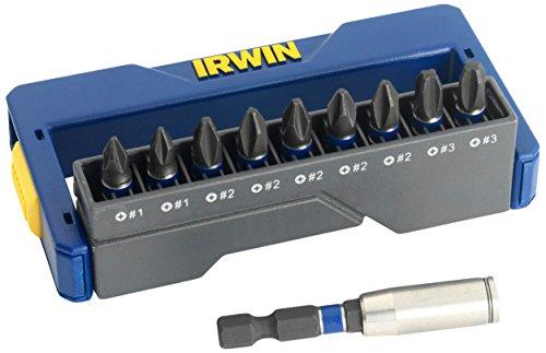 Irwin Impact Screwdriver Bit Set of 10 Pozi