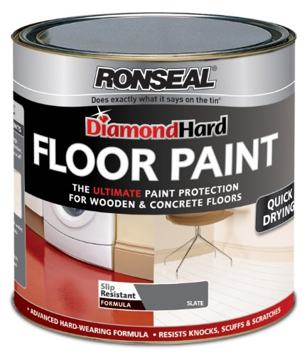 Ronseal Diamond Hard Floor Paint Slate 2.5 Litre