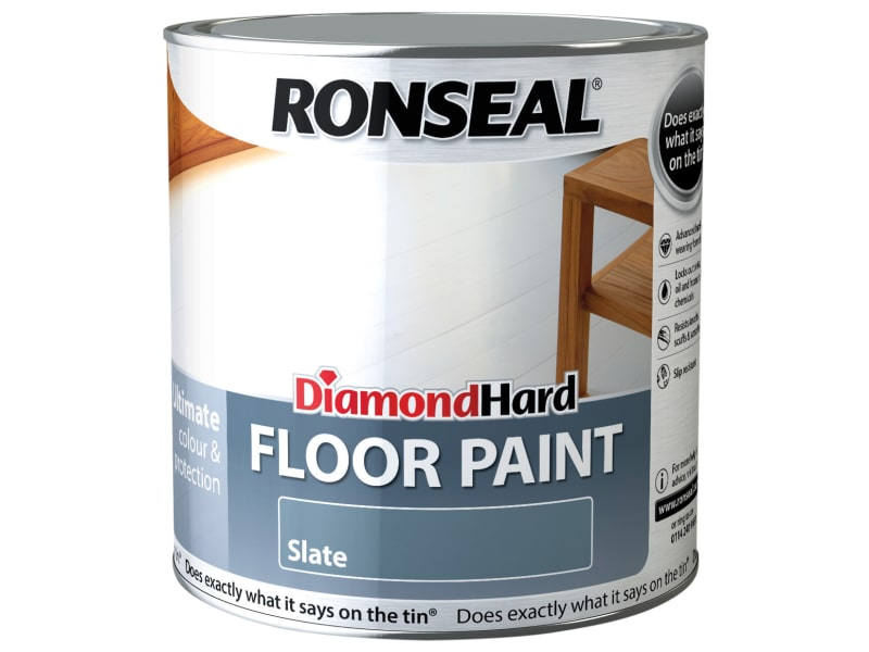 Ronseal Diamond Hard Floor Paint Slate 2.5 Litre