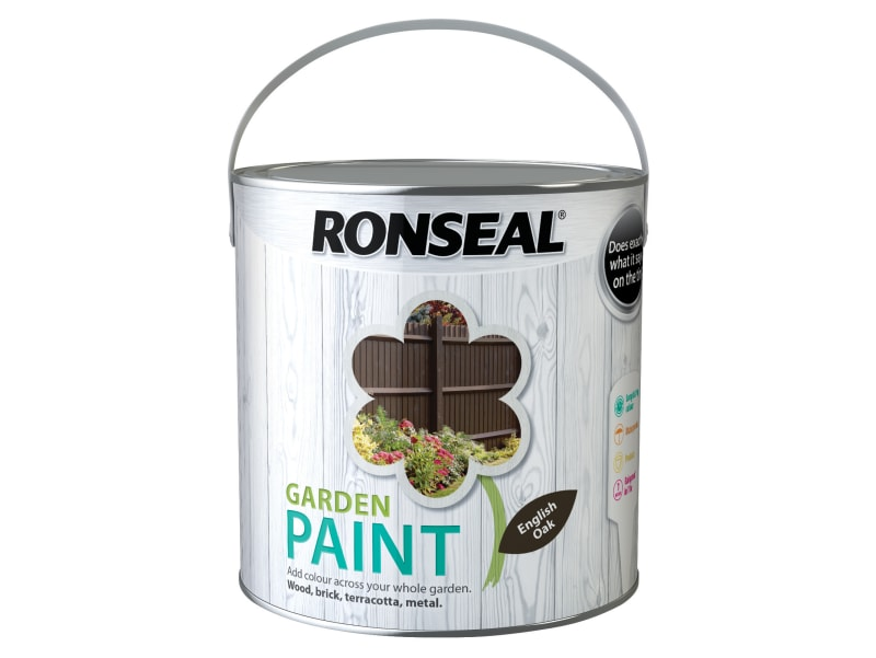 Ronseal Garden Paint English Oak 2.5 Litre