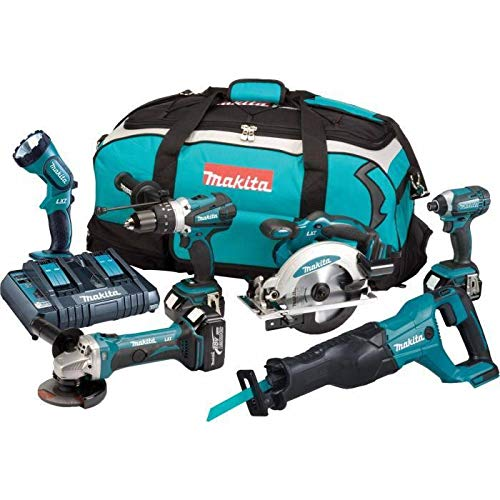 Makita Dlx6072pt Combo Kit, 18 V, Multi-coloured, 74 X 38 X 35