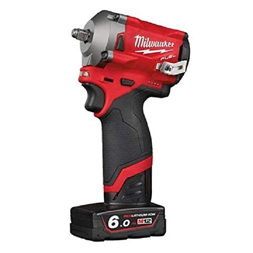 Milwaukee FUEL™ Impact Wrench Kit 12V 1 x 2.0Ah & 1 x 6.0Ah Li-ion