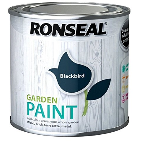Ronseal Garden Paint Black Bird 750ml