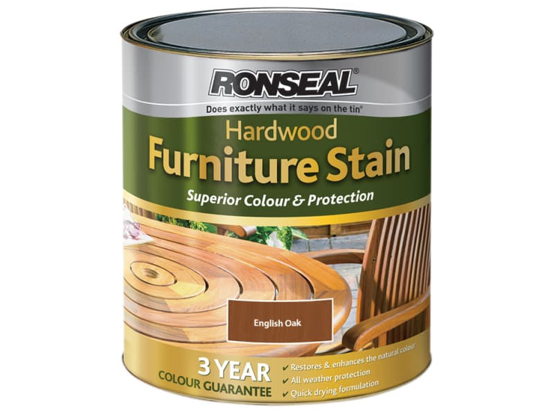Ronseal Ultimate Protection Hardwood Garden Furniture Stain English Oak 750ml