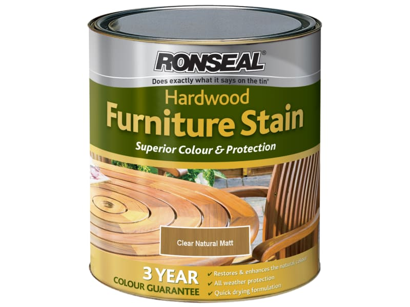Ronseal Ultimate Protection Hardwood Garden Furniture Stain Natural Matt 750ml