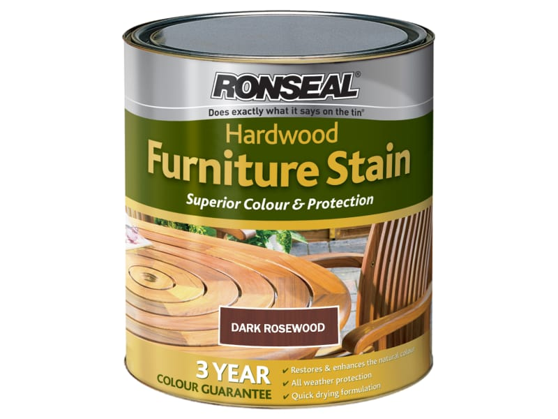Ronseal Ultimate Protection Hardwood Garden Furniture Stain Dark Rosewood 750ml