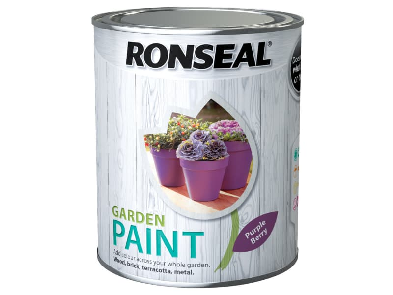 Ronseal Garden Paint Purple Berry 750ml