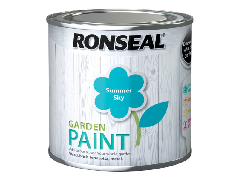 Ronseal Garden Paint Summer Sky 250ml