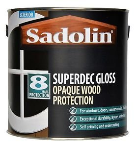 Sadolin Superdec Opaque Wood Protection Super White Gloss 2.5 Litre
