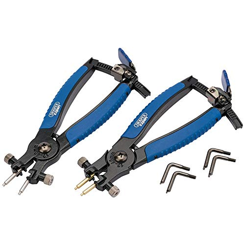 Draper Soft Grip Ratcheting Internal and External Circlip Pliers (2 piece)
