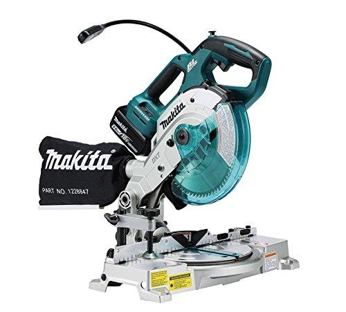 Makita Dls600z 18v Li-ion Lxt 165mm Brushless Mitre Saw – No Batteries Included, 18 V, Blue, 165 Mm