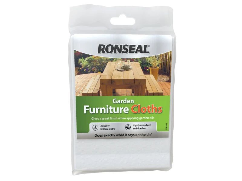 Ronseal Garden Furniture Cloth (pack of 3)