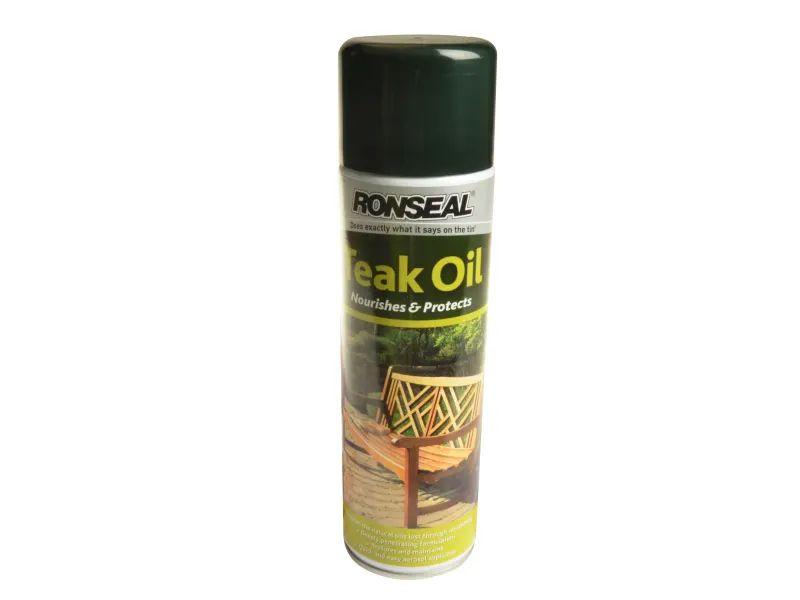 Ronseal Garden Furniture Teak Oil Aerosol 500ml