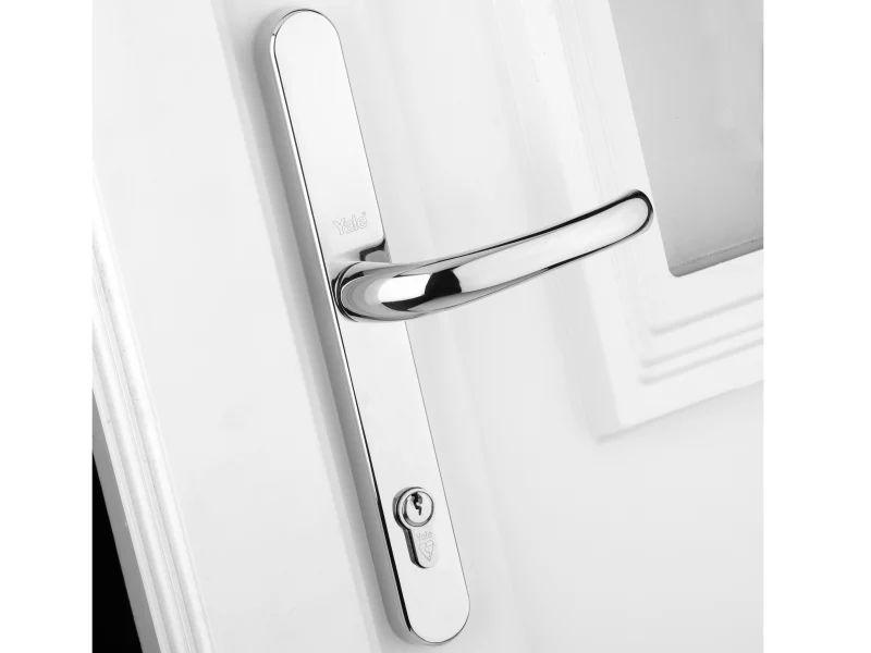 Yale Locks Retro Door Handle PVCu Polished Chrome Finish