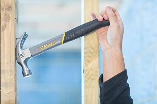 Stanley Curved Claw Hammer Fibreglass Shaft 450g (16oz)